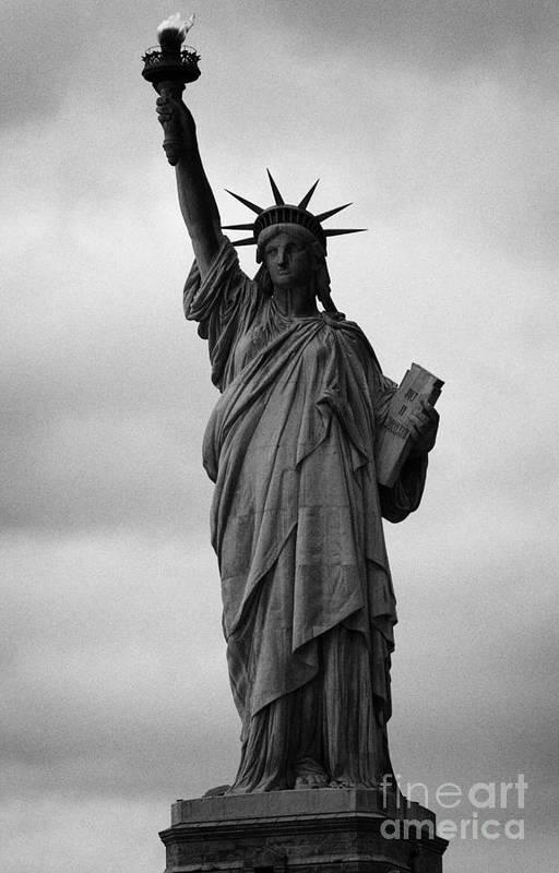 Usa Art Print featuring the photograph Statue Of Liberty National Monument Liberty Island New York City Nyc Usa by Joe Fox