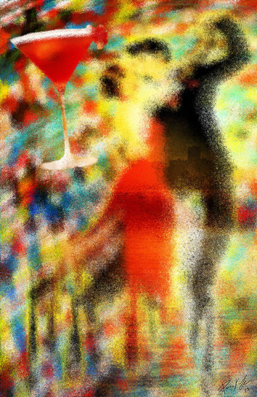 Tango As The Sunset Art Print featuring the painting Tango As The Sunset by Kenal Louis