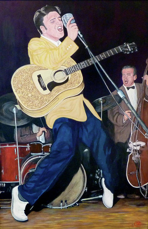 Elvis Presley Art Print featuring the painting Thank You Very Much by Tom Roderick