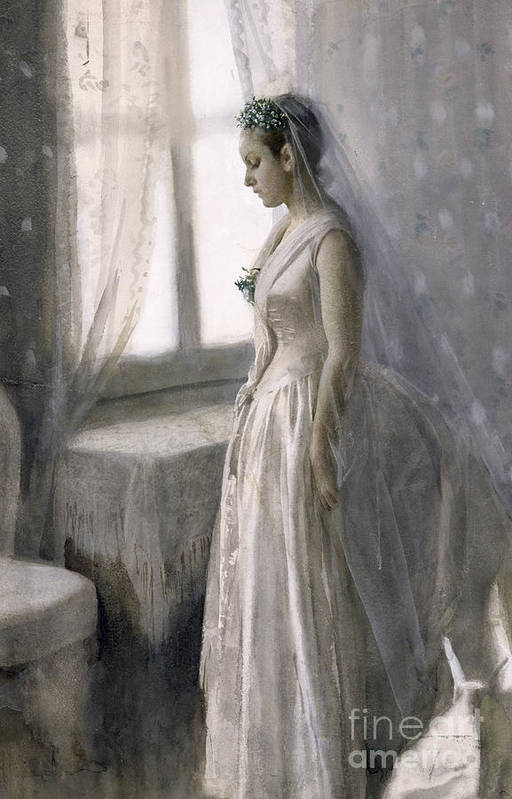 Female Art Print featuring the painting The Bride by Anders Leonard Zorn