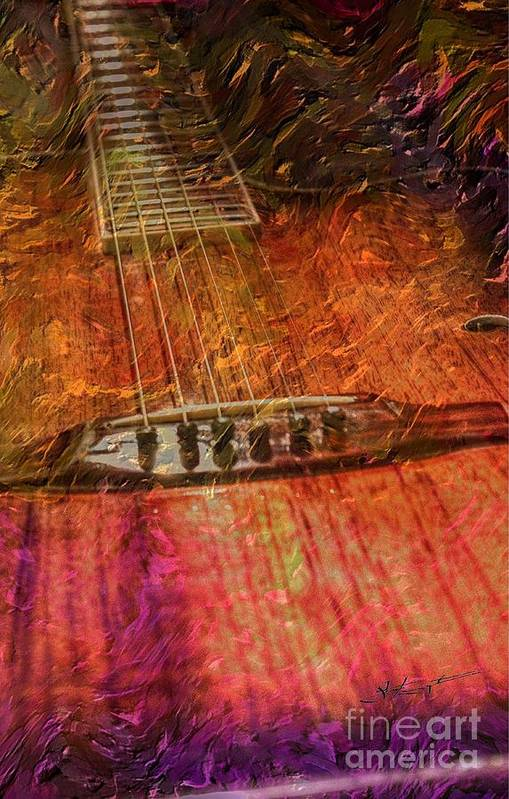 Acoustic Art Print featuring the photograph The Color Of Music Digital Guitar Art By Steven Langston by Steven Lebron Langston
