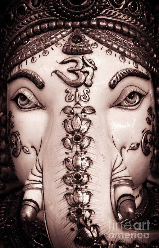 Ganesha Art Print featuring the photograph The Destroyer Of Obstacles by Tim Gainey
