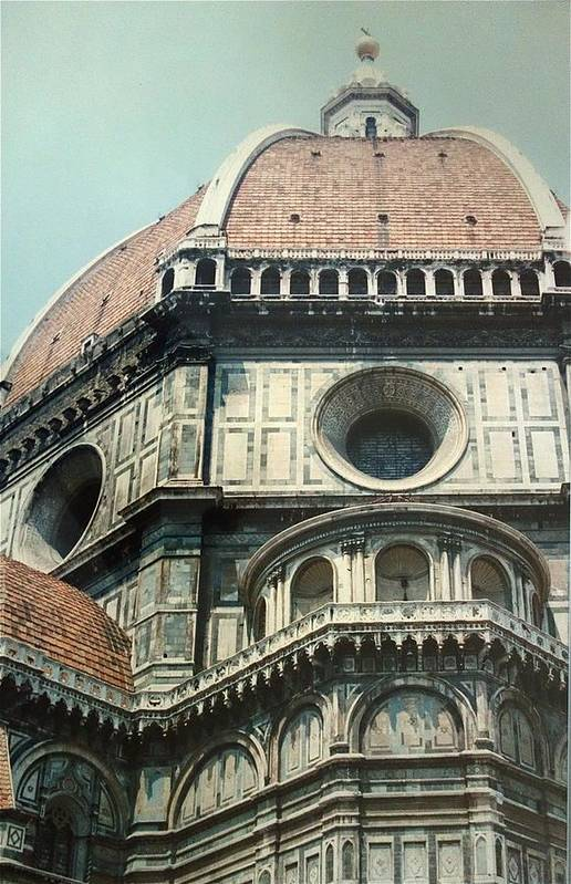 Duomo Print featuring the painting The Duomo Firenze by Melinda Saminski