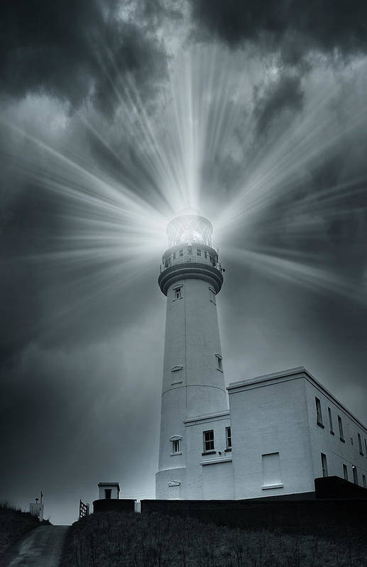 Artistic Art Print featuring the photograph The Light House by Svetlana Sewell