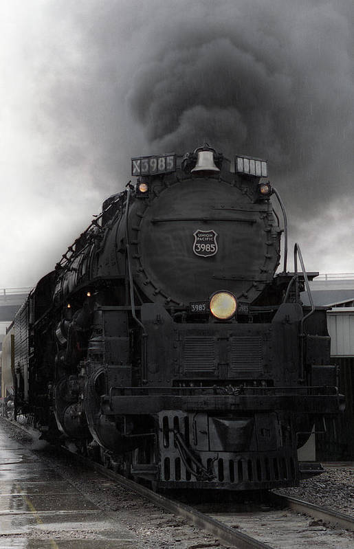Steam Art Print featuring the photograph Union Pacific 3985 by Sumi Martin