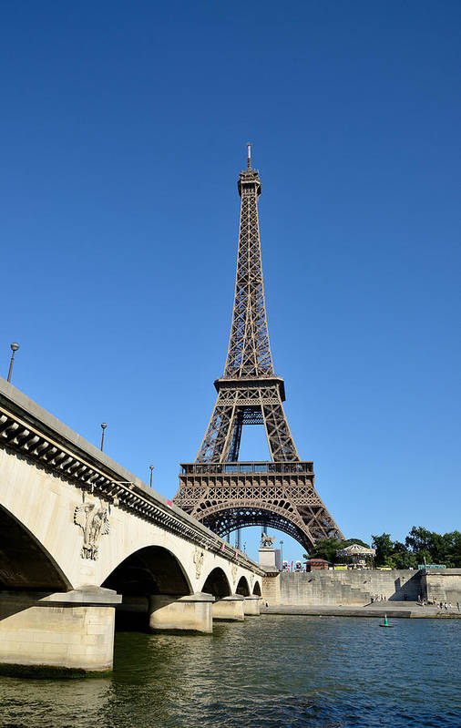Vertical Art Print featuring the photograph Eiffel Tower In Paris by Martial Colomb
