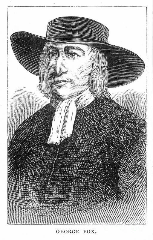 English Art Print featuring the photograph George Fox (1624-1691) by Granger