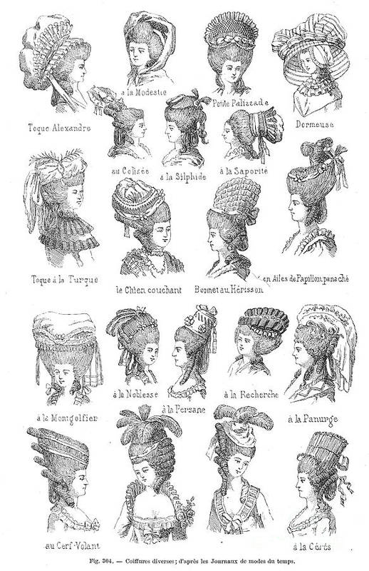 Hairstyle 18th Century Art Print By Granger