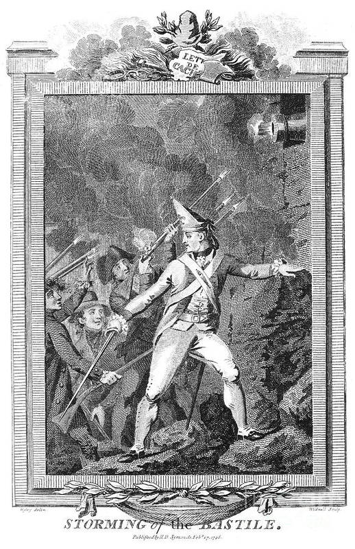 1789 Art Print featuring the photograph French Revolution, 1789 by Granger