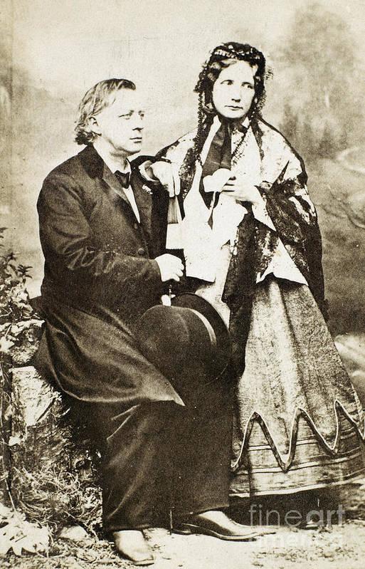 1868 Print featuring the photograph Henry Ward Beecher by Granger