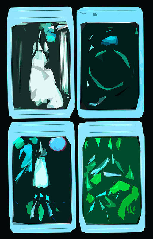 Tarot Art Print featuring the digital art Untitled by Russell Clenney