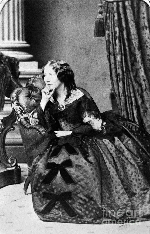 1860 Art Print featuring the photograph Harriet Beecher Stowe by Granger