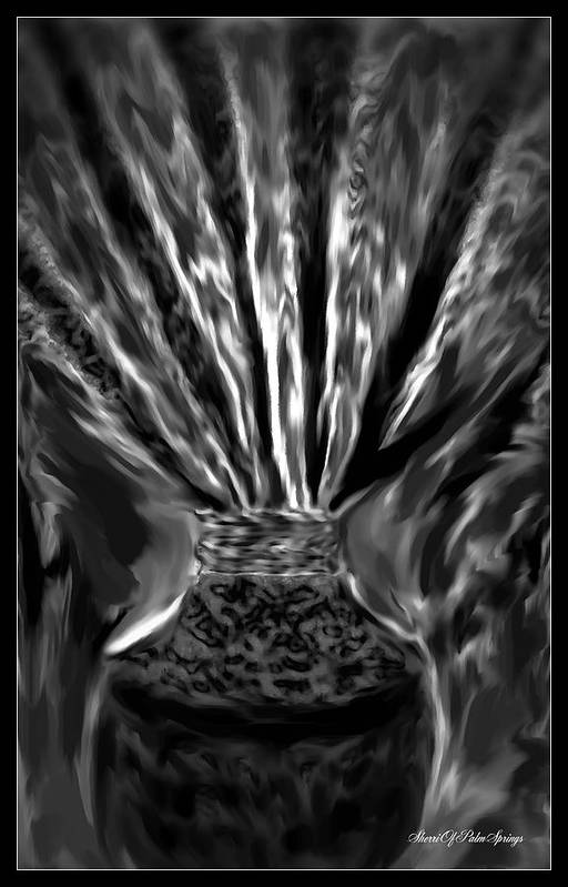 Abstract Art Print featuring the painting Black Velvet by Sherri's - Of Palm Springs