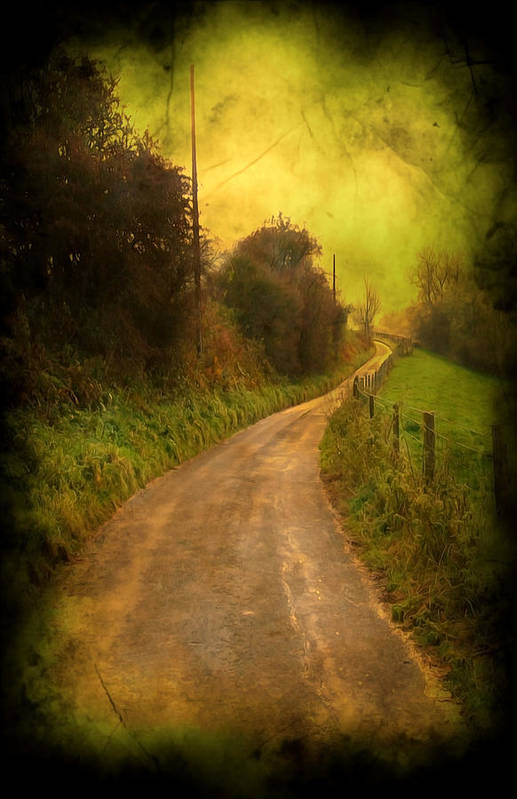 Abstract Print featuring the photograph Countryside Road by Svetlana Sewell