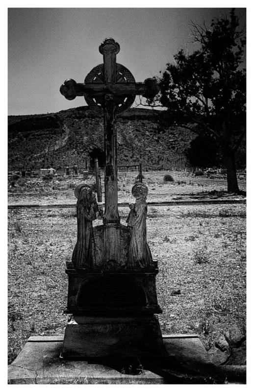 Art Photography Art Print featuring the photograph Cowboy Graveyard by Franklin Jeffers