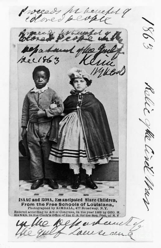 1863 Art Print featuring the photograph Freedmen School, 1863 by Granger