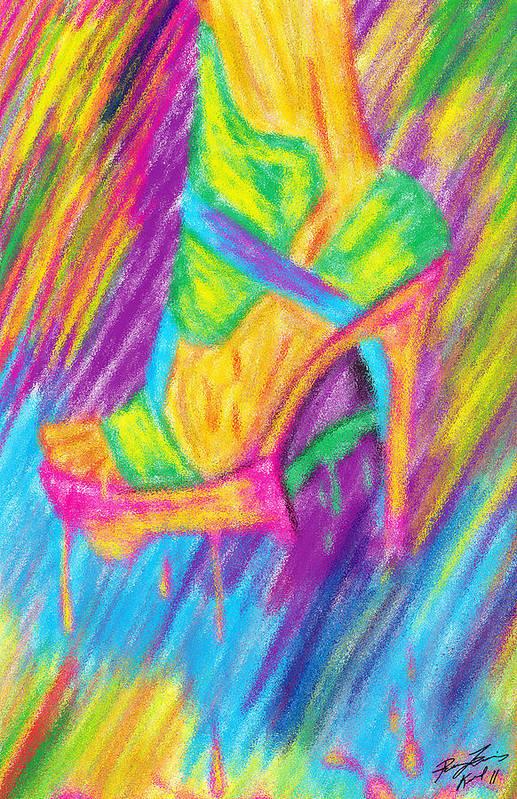 Funky Stilettos Impression Art Print featuring the digital art Funky Stilettos Impression by Kenal Louis