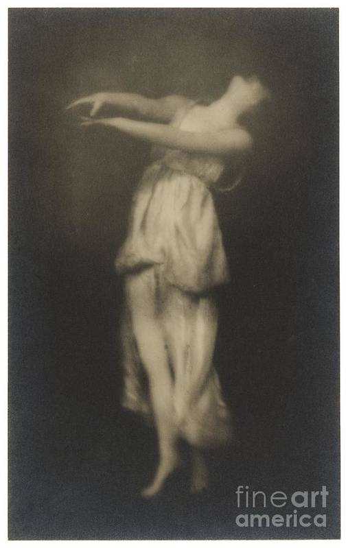 Adopted Daughter Of The Dancer Art Print featuring the photograph Irma Duncan by Arnold Genthe