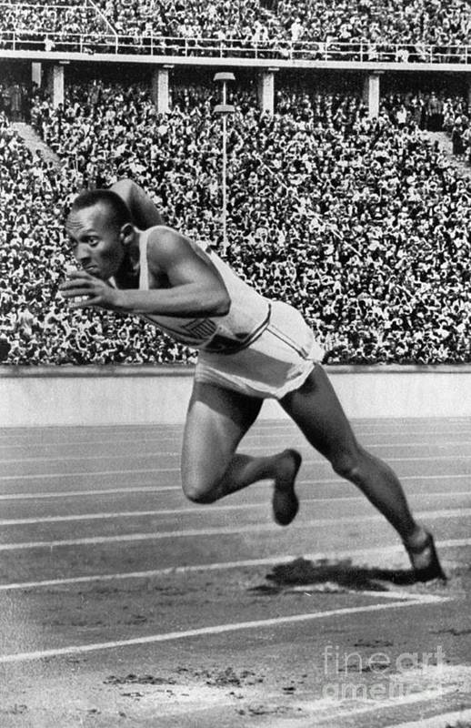 1936 Art Print featuring the photograph Jesse Owens (1913-1980) by Granger