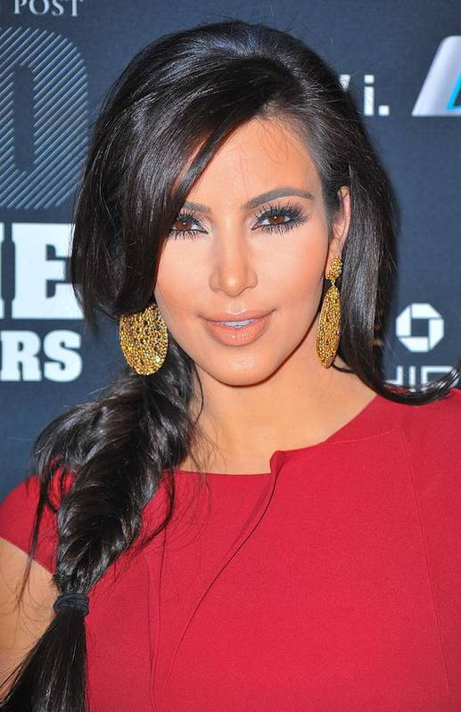 Kim Kardashian Art Print featuring the photograph Kim Kardashian At Arrivals For 2011 by Everett