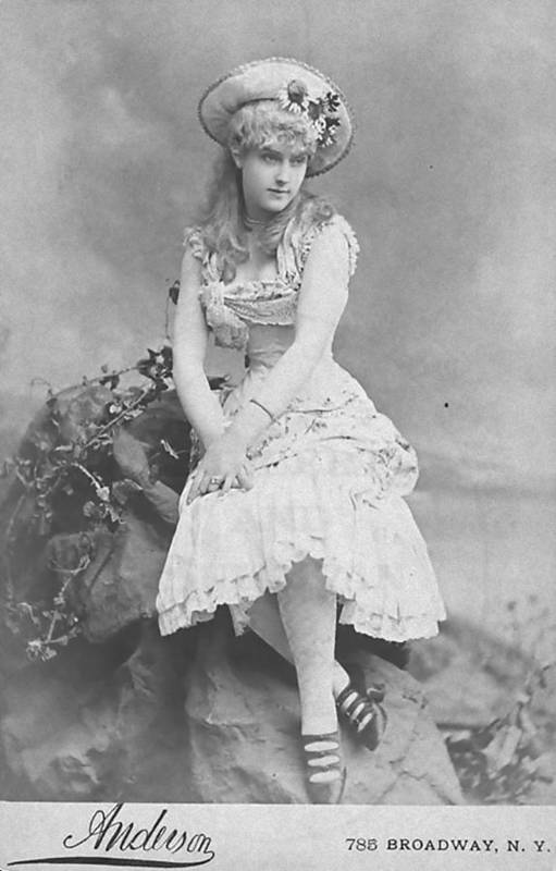 Art Print featuring the photograph Lillian Russell 1882 by Steve K