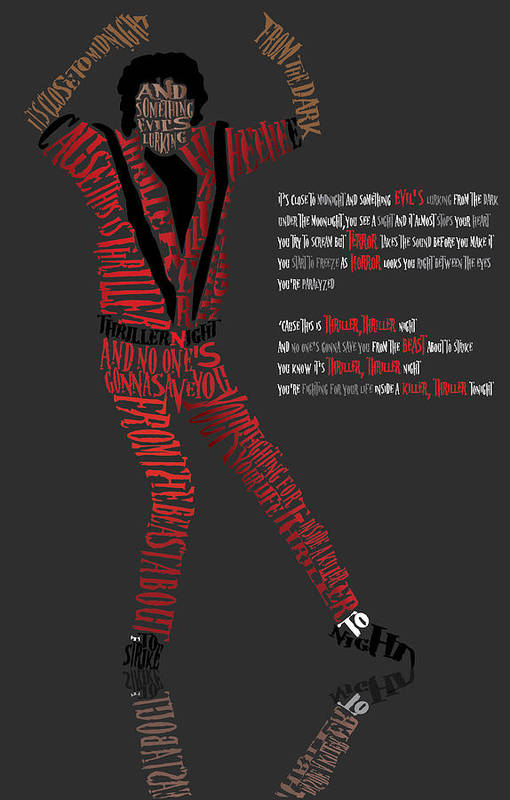 Celebrity Art Art Print featuring the digital art Mj_typography by Mike Haslam