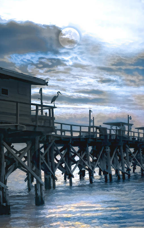 Pier Art Print featuring the photograph Night Stalker by Stephen Warren