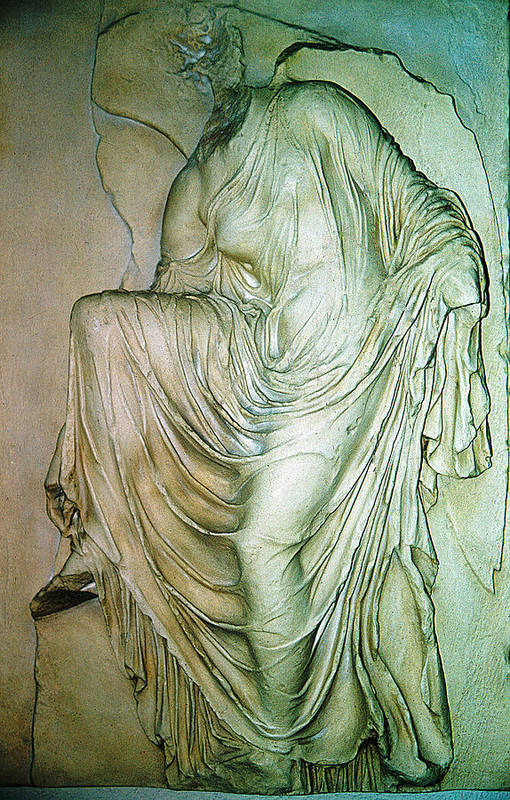 Nike Statue Art Print featuring the photograph Nike Unloosing Her Sandal by Andonis Katanos