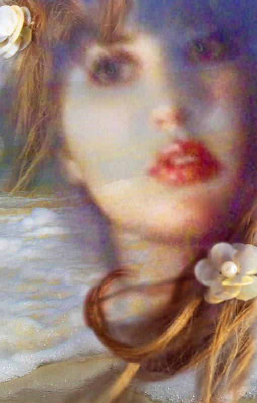 Face Art Print featuring the pyrography Ocean Pearls by Laura Rispoli