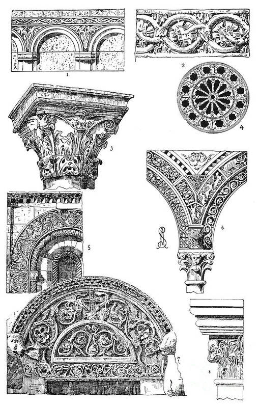 Ancient Art Print featuring the photograph Romanesque Ornament by Granger