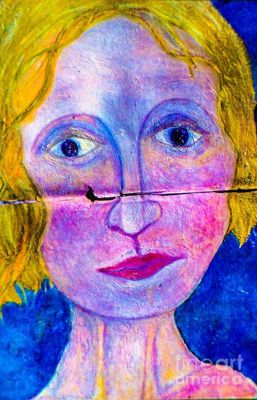 Art Print featuring the mixed media Sally by Bill Davis