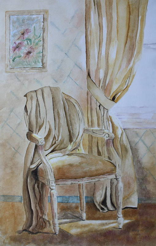 Interior Still Life Art Print featuring the painting Sunlit Afternoon by Patsy Sharpe