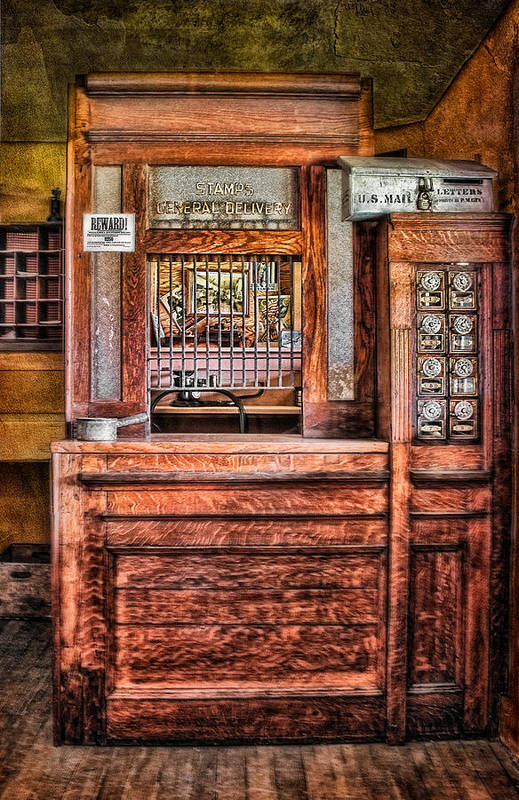 Post Office Art Print featuring the photograph Yesterday's Post Office by Susan Candelario