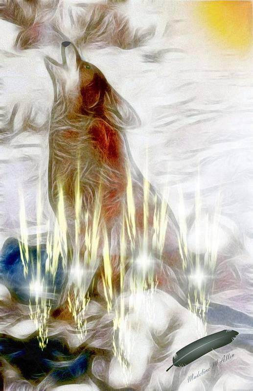 Smudgeart Art Print featuring the digital art A Spiritual Healing by Madeline Allen - SmudgeArt