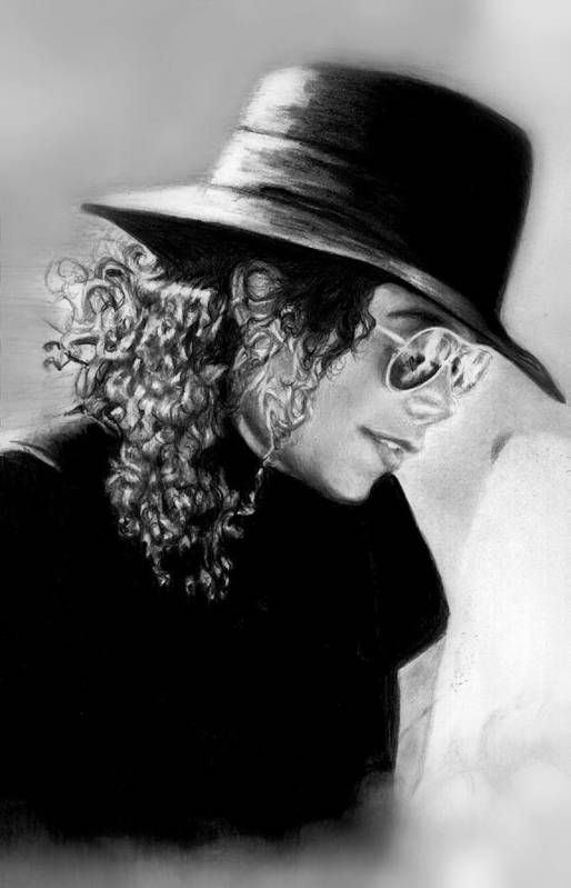 Mj Print featuring the drawing On Vacation With Lisa by Carliss Mora