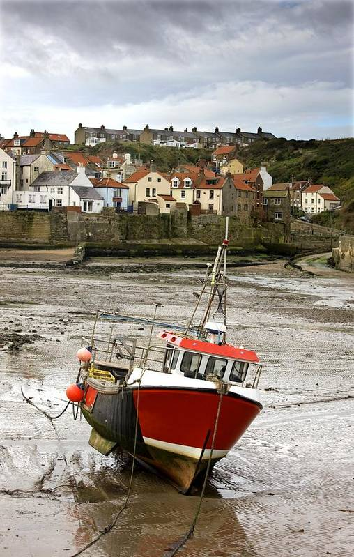 Abodes Art Print featuring the photograph Staithes, North Yorkshire, England by John Short