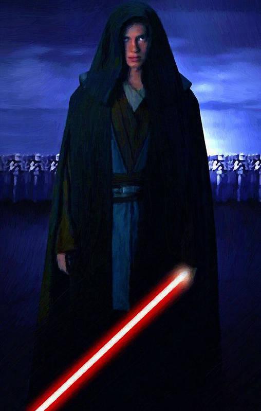 Star Wars Art Print featuring the digital art Star Wars Heroes Poster by Larry Jones