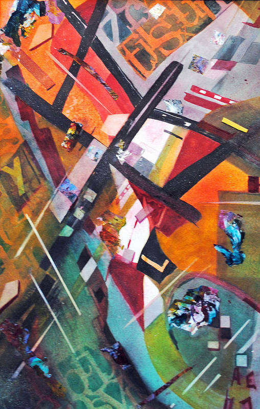 Abstract.colorful Art Print featuring the painting Above The Fray by Kay Fuller