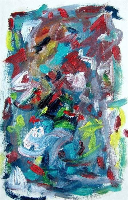 Abstract Art Art Print featuring the painting Abstract On Paper No. 32 by Michael Henderson