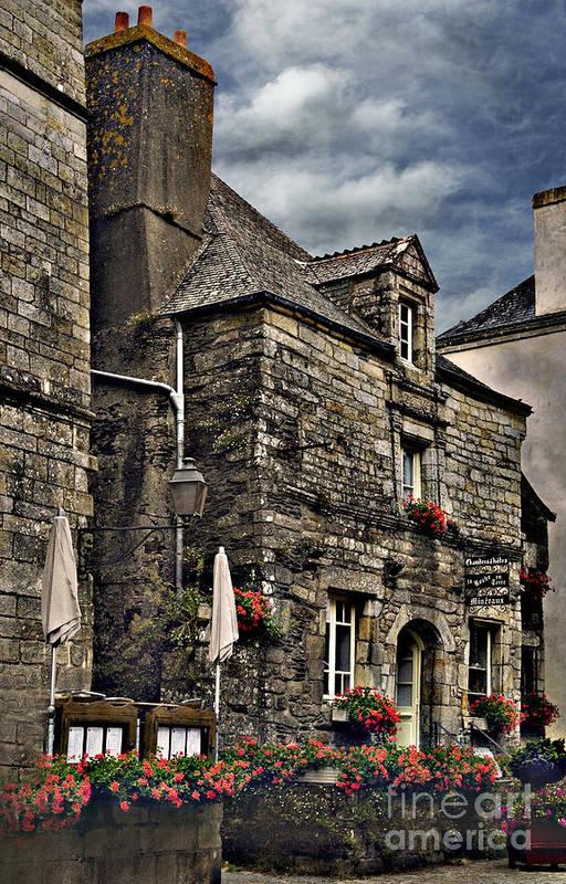 Architecture Art Print featuring the photograph Ancient Mansion - Rochefort-en-terre - La Bretagne by Mark Hendrickson