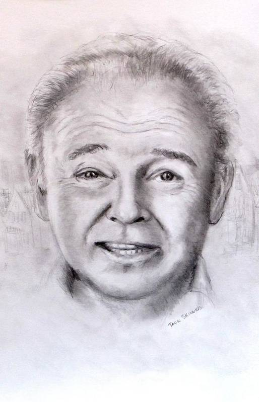 Archie Bunker Art Print featuring the drawing Archie by Jack Skinner