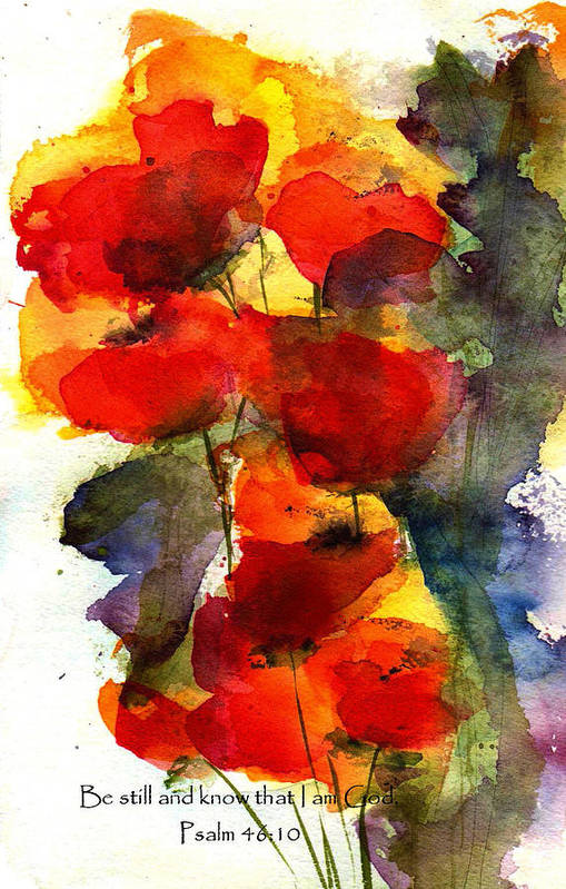 Watercolor Art Print featuring the painting Be Still And Know That I Am God by Anne Duke