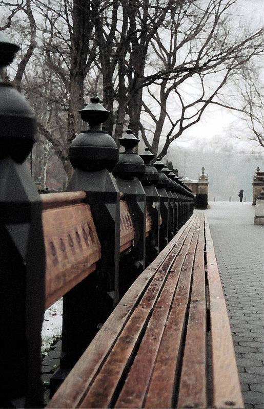 New York City Art Print featuring the photograph Bench by John-Marc Grob
