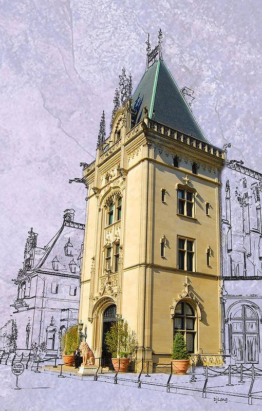 Biltmore Art Print featuring the digital art Welcome To Biltmore by DJ Long
