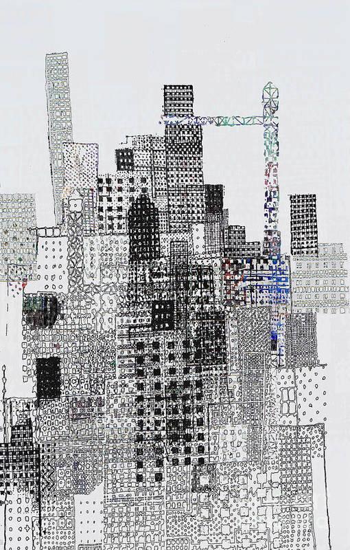 Blip Art Print featuring the digital art Blip 1 by Andy Mercer