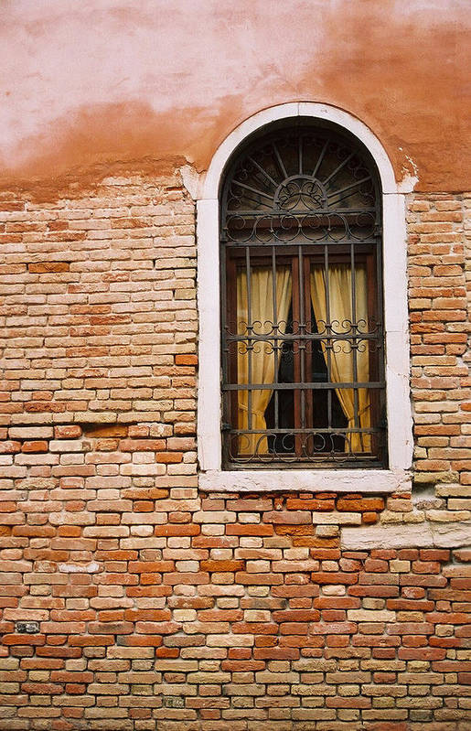 Window Art Print featuring the photograph Brick Window by Kathy Schumann