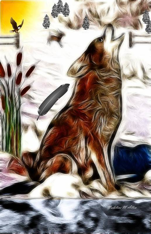 Smudgeart Art Print featuring the digital art Call Of The Wild by Madeline Allen - SmudgeArt