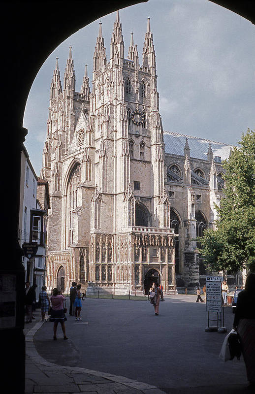 Cathedral Art Print featuring the photograph Canterbury Cathedral England by Richard Singleton