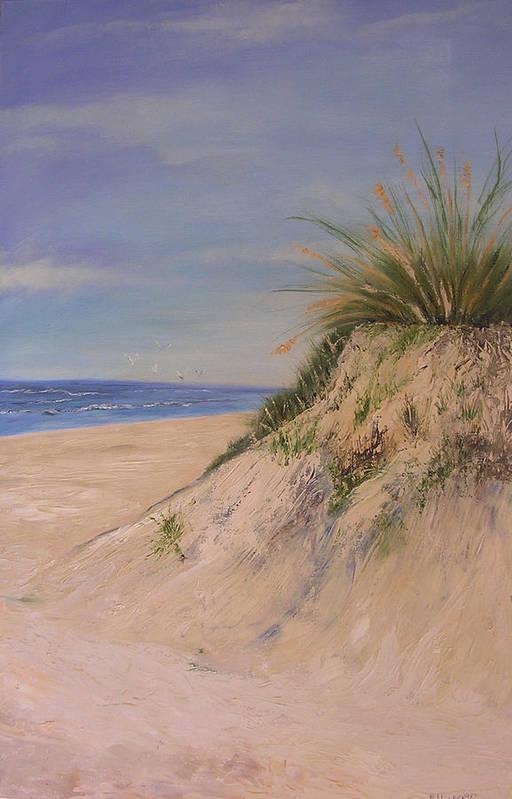 Dune Art Print featuring the painting Chesapeake Bay Dune by Barbara Harper
