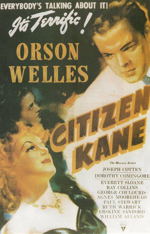 Citizen Kane Art Print featuring the painting Citizen Kane - Orson Welles by Georgia Fowler